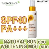 Kem chống nắng dạng xịt Natural Sun ECO Whitening Mist Sun - TheFaceshop