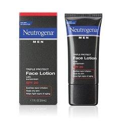 Kem chống nắng, dưỡng da cho nam Neutrogena Men® Triple Protect Face Lotion with sunscreen SPF 20 - 50ml