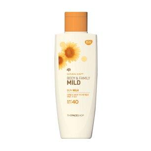 Kem chống nắng Natural Sun Aq Body Family Mild Sun Milk SPF40 PA+++