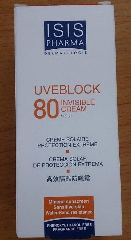 Kem chống nắng Uveblock SPF80 Invisible Cream