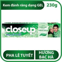 Kem đánh răng dạng gel Closeup pha lê tuyết hương bạc hà 230g