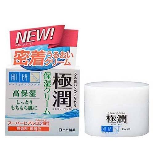 Kem dưỡng ẩm Hadalabo Gokujyun Hyaluronic Acid Moisturizing Cream 50g