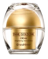 Kem dưỡng ẩm và chống lão hóa làm sáng da seaNtree Snail Gold 24k Cream