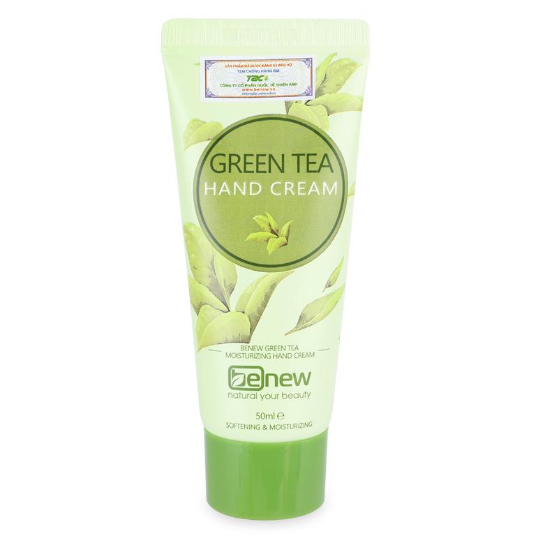 Kem dưỡng da tay cao cấp 50ml Benew Green Tea Hand Cream