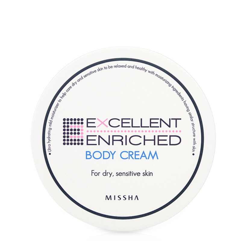 Kem dưỡng thể cho da khô Missha Excellent Enriched Body Cream 390ml