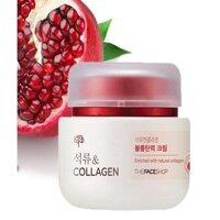 Kem dưỡng trắng da chiết xuất lựu và collagen The Face Shop