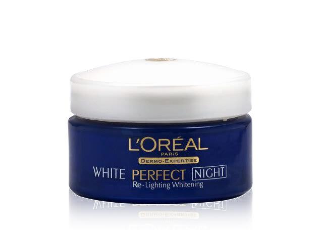 Kem dưỡng trắng da Loreal White Perfect Night Cream Whitening+Even Tone 50ml