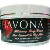 Kem dưỡng trắng toàn thân chống nắng Havona - 100g