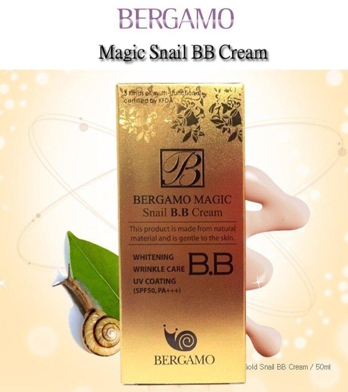 Kem nền BB cream tinh chất từ ốc sên BERGAMO MAGIC SNAIL B.B CREAM SPF50 PA+++ 50ml
