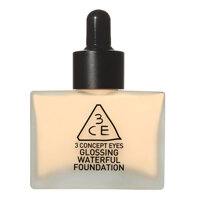 Kem nền dạng lỏng 3CE Glossing Waterful Foundation