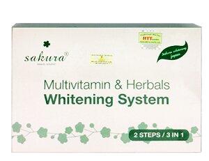 Kem tắm làm trắng da Sakura multivitamin & herbals whitening system