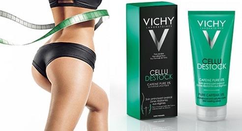 Kem tan mỡ bụng Vichy cellu destock hộp 200ml