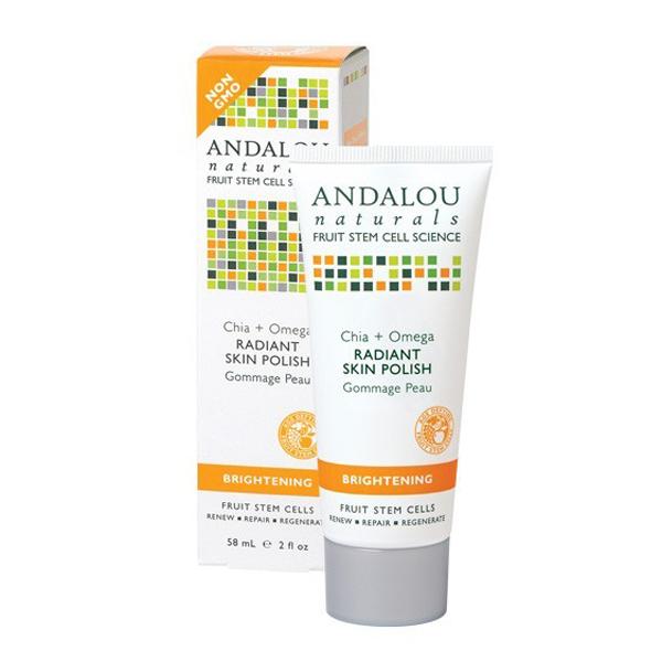 Kem tẩy tế bào chết Andalou Naturals Chia + Omega Radiant Skin Polish 58ml