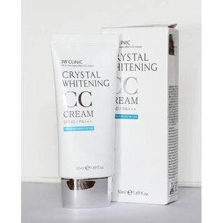 Kem trang điểm 3W CLINIC CRYSTAL WHITENING CC CREAM