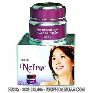 Kem trị mụn nám trắng da giữ ẩm Neiro-30g