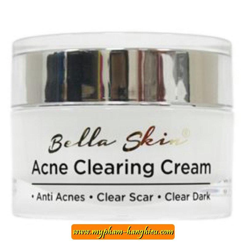 Kem trị mụn, xoá vết thâm Bella Skin Acne Clearing Cream
