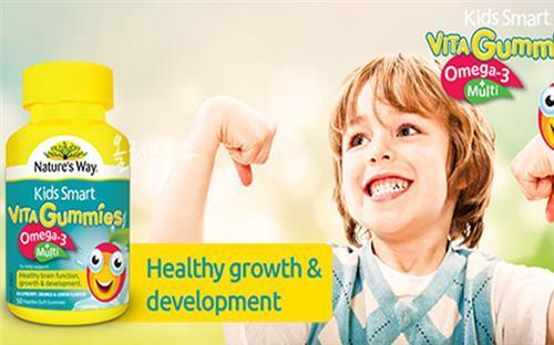 "Kẹo dẻo bổ sung Omega 3 cho trẻ em Nature""s Way Kids Smart Vita Gummies Multi + Omega – 50 viên"