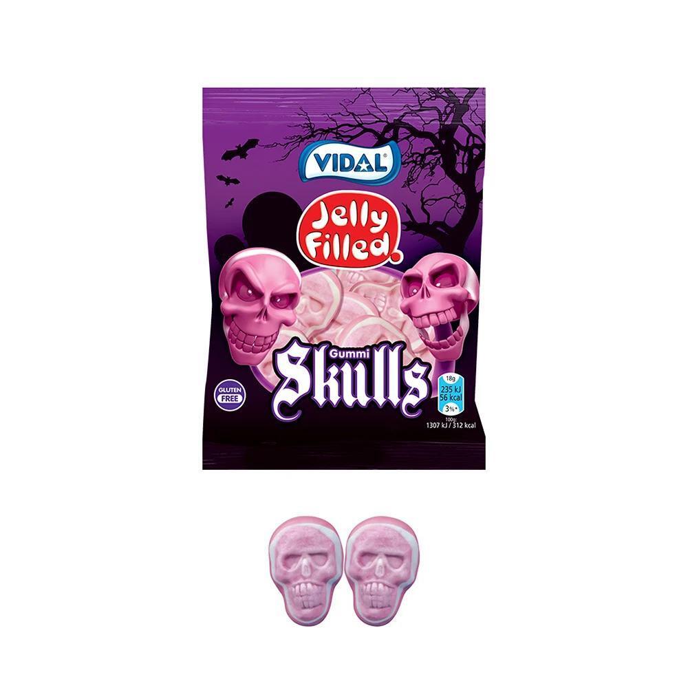 Kẹo dẻo hình đầu sọ nhân thạch Vidal gói 100g