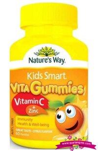 Kẹo Dẻo Nature's Way Kids Smart Vita Gummies Vitamin C Plus Zinc - 60 Viên