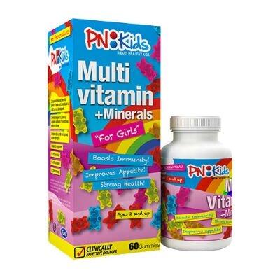 Kẹo dẻo PN Kids vitamin  Multi Vitamin Girl 30 viên