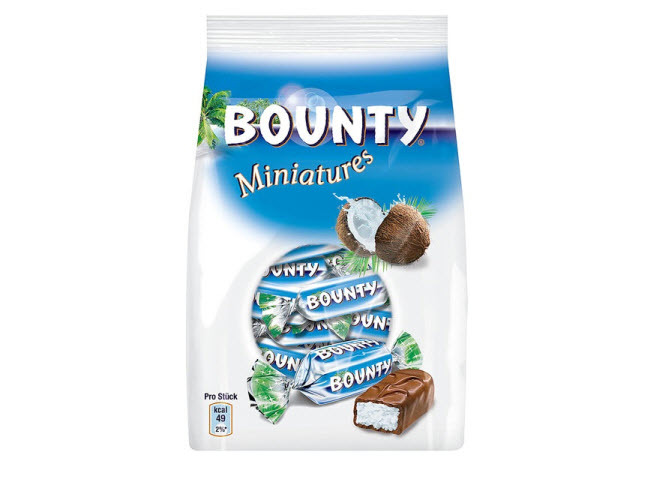 Kẹo Dừa bọc chocolate Bounty Miniatures 100g