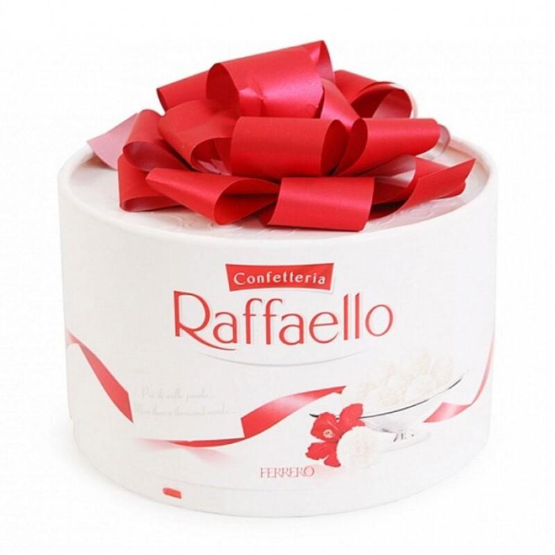 Kẹo dừa Raffaello Ferrero – 200g, hộp nơ