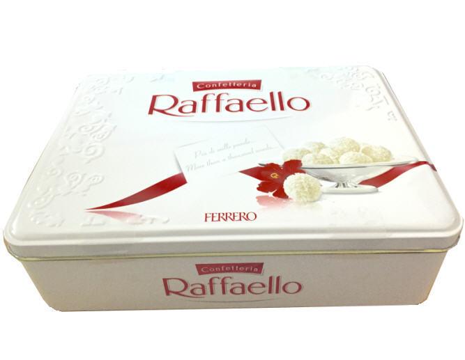 Kẹo dừa Raffaello Ferrero hộp sắt 300g