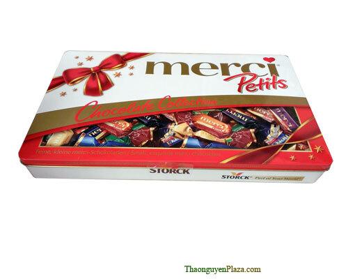 Kẹo Merci hộp sắt Petis 375g