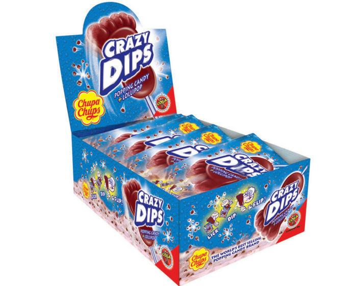 Kẹo mút nổ Chupa Chups – Hộp 24 cái 14g