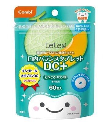 Kẹo ngậm ngăn ngừa sâu răng Combi Vị dưa lưới 60 viên