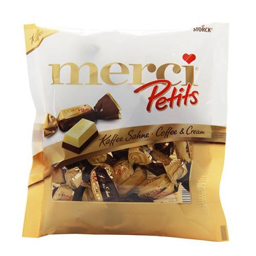 Kẹo Socola Storck Merci Pertits Coffee & Cream 125g