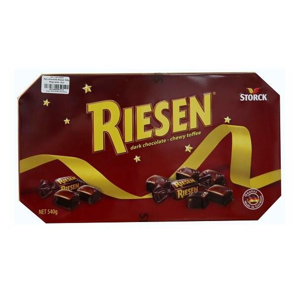 Kẹo Storck Riesen Dark Chocolate Chewy Toffee – Hộp Thiếc 540g