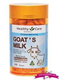 Kẹo sữa dê vị Sô cô la thơm ngon bổ dưỡng Healthy Care Goat Milk Chocolate 300 viên