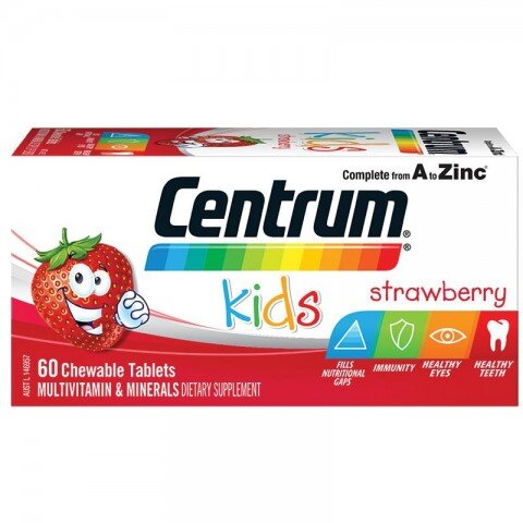 Kẹo vitamin Centrum Kids Multi Vitamin 60 Strawberry