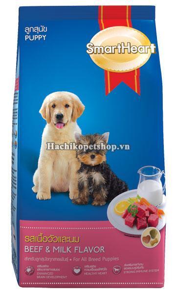 Thức ăn cho chó con Smartheart Puppy - 8kg, dành cho chó dưới 1 năm tu...