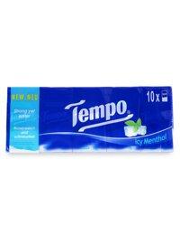 Khăn giấy Tempo Icy Menthol (Lốc 10 gói/bịch)