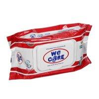 Khăn giấy ướt không mùi We Care - 100 tờ