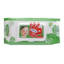 Khăn ướt em bé Nuna 80 tờ (hương phấn)