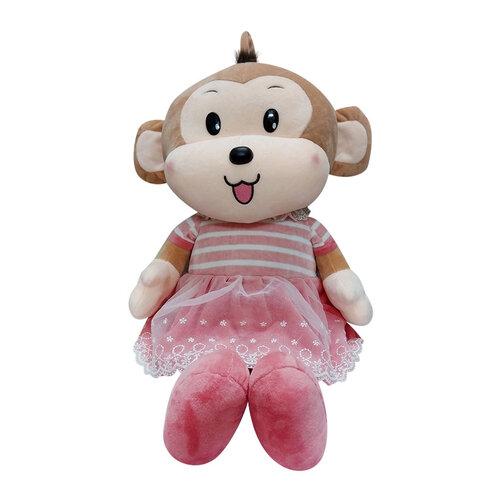Khỉ bông mặc váy Kotanzi (45 x 22cm)