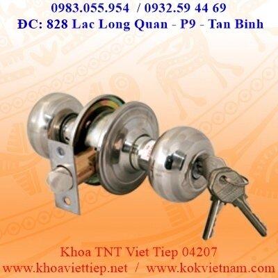 Khóa tay nắm tròn Việt Tiệp 04207