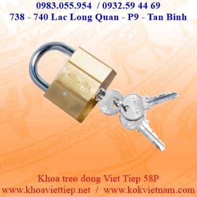 Khóa treo đồng bấm Việt Tiệp 0158P