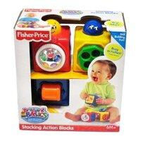 Khối đồ chơi thông minh Fisher-Price Stacking Action Blocks 74121