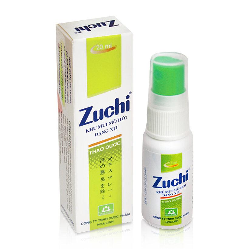Khử mùi mồ hôi thảo dược Zuchi 20ml