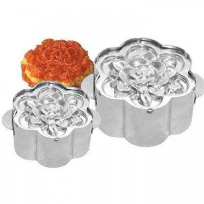 Khuôn xôi inox hoa hồng tiện dụng loại nhỏ
