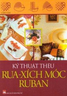 Kỹ thuật thêu rua - xích móc, ruban - Cẩm Vân