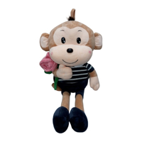Khỉ bông cầm hoa Kotanzi (45 x 22cm)