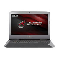 Laptop gaming Asus ROG G752VM-GC066T - Intel Skylake i7-6700HQ, RAM 32GB, SSD 256GB + HDD 1TB, Intel VGA NVIDIA GeForce, 17.3 inch