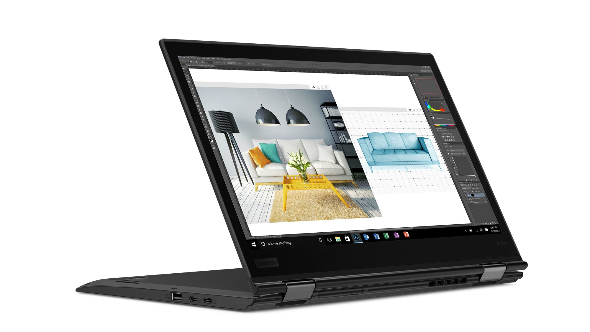 Laptop Lenovo ThinkPad X1 Yoga Gen 3 20LDS00M00 - Intel core i7 - 8550U, 8GB RAM, SSD 256GB, Intel UHD Graphics 620, 14 inch