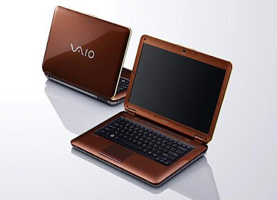 Laptop Sony Vaio VGN-CS26G - Intel Core 2 Duo P8600 2.4GHz, 3GB RAM, 320GB HDD, NVIDIA GeForce 9300M GS, 14.1 inch