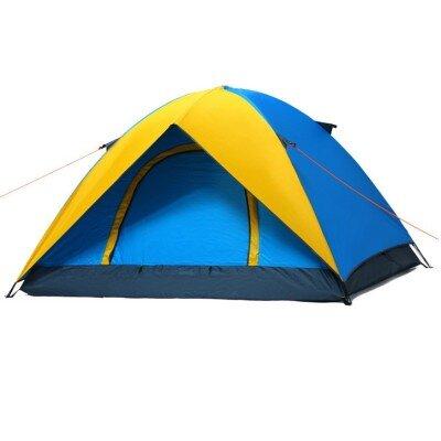 Lều cắm trại Sportmax SP4950 - màu xanh phối vàng/cam